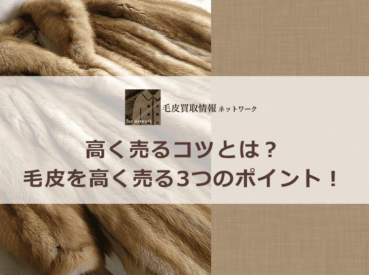 毛皮を高く売る方法