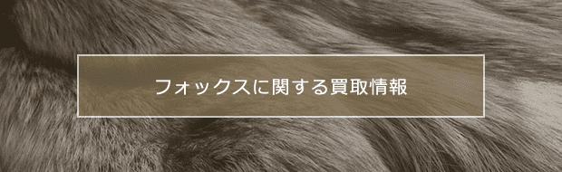 fox買取に関する様々な情報をご紹介
